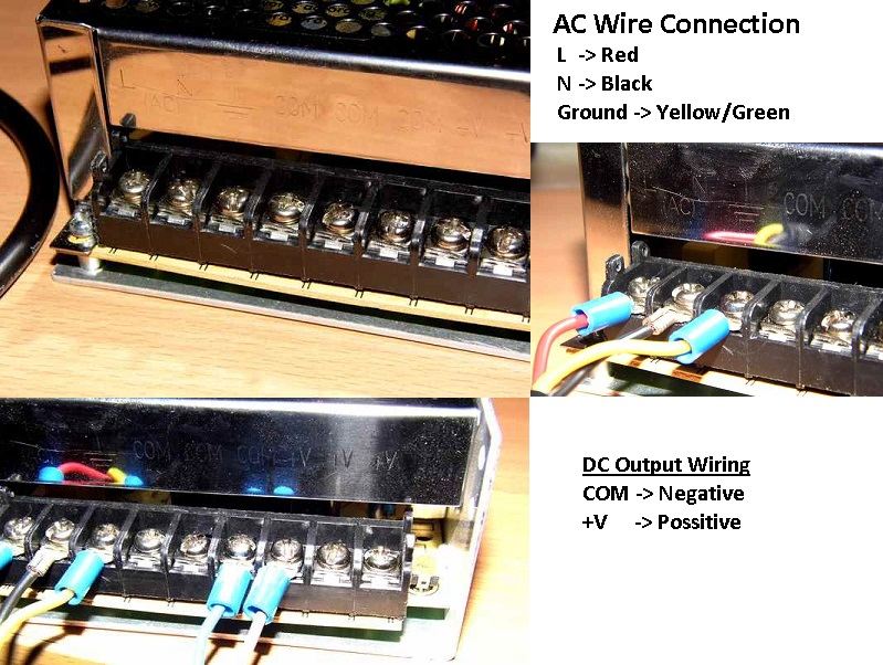 Wire the power supply
