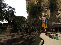 Ramayana cave en las cuevas Batu