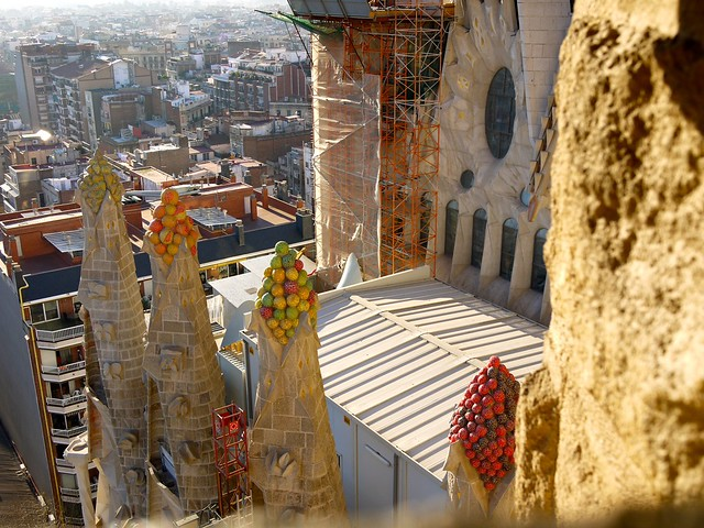 Spain Barcelona La Sagrada Familia tower 3