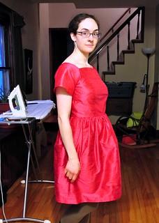 pink dupioni dress 003