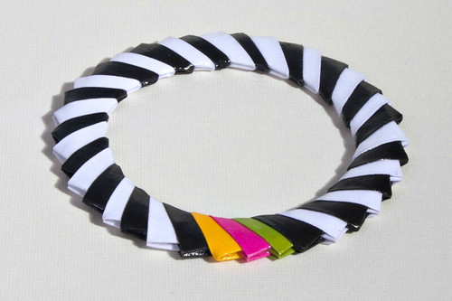 Jen & Tonic Candy Stripe Bangle Bracelet from