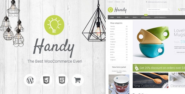 Handy v4.13 - Handmade Shop WordPress WooCommerce Theme