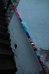 Yarn bombing Besançon 05
