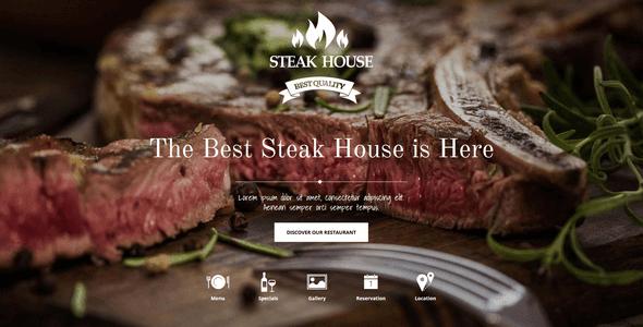 Steak House v3.20 – Joomla Template 3 and 2.5