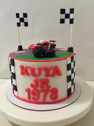 Racing Car Themed Cake by Gerlyn