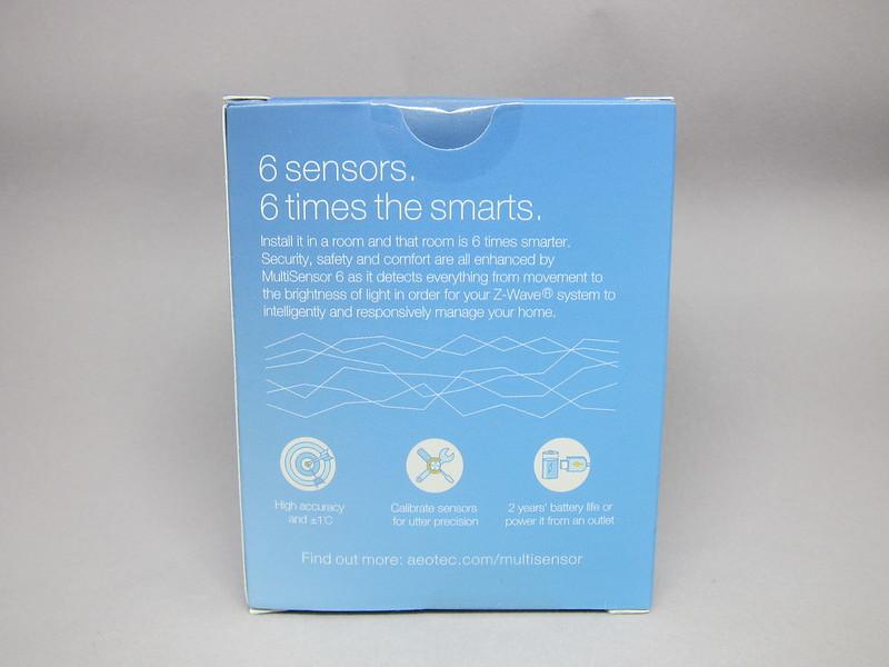 Aeon Labs Aeotec Z-Wave MultiSensor 6 (Gen5) - Box Back
