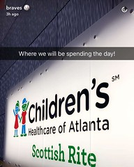 Props @braves for your giving heart. Loved watching your visit to @childrensatl on Snapchat :clap::punch::baseball: