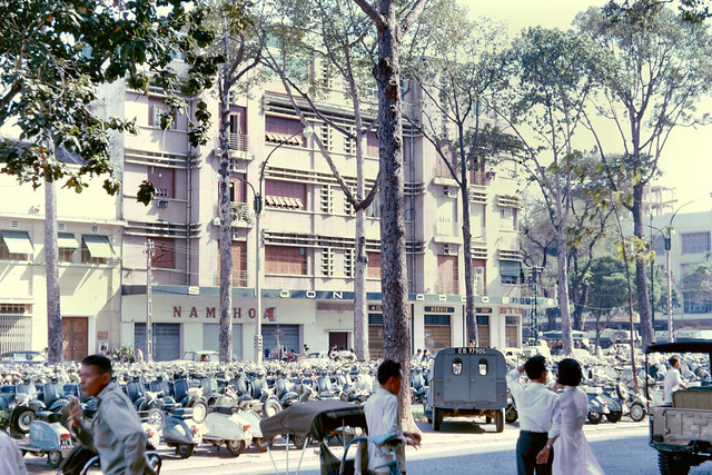 SAIGON 1965 - The TAX building, once the Grands Magasins Charner department store, at the far right. Photo by John Hansen