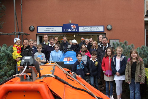 Group photo with lifeboat