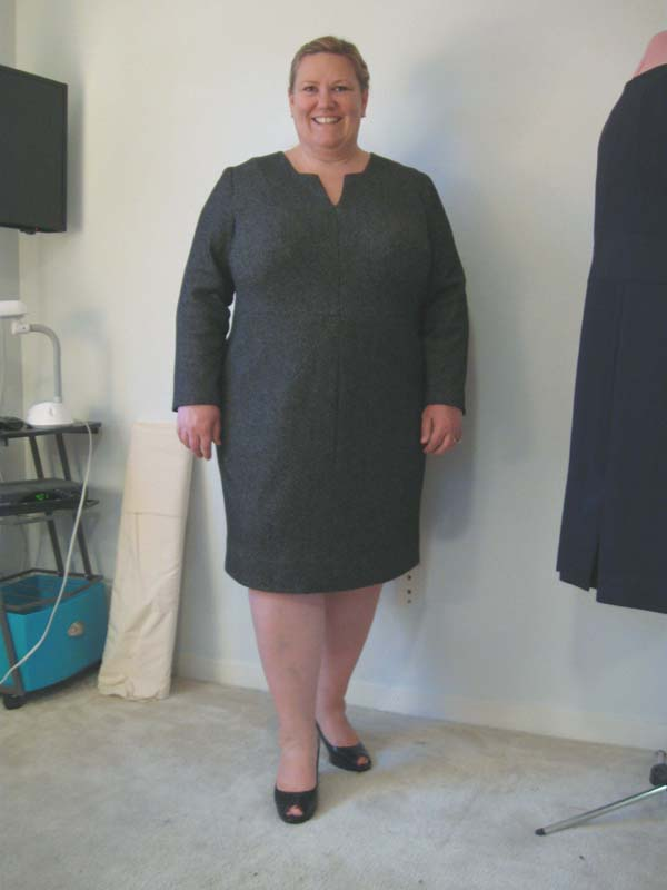 Burda plus 113B Grey Sweater dress