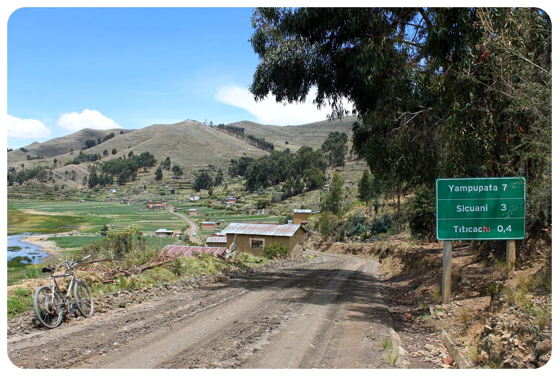 lake titicaca yampupata hike road