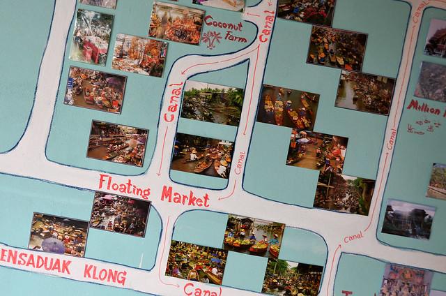 Mapa de Damnoen Saduak