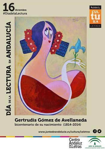 Cartel del Día de la Lectura en Andalucía 2014.