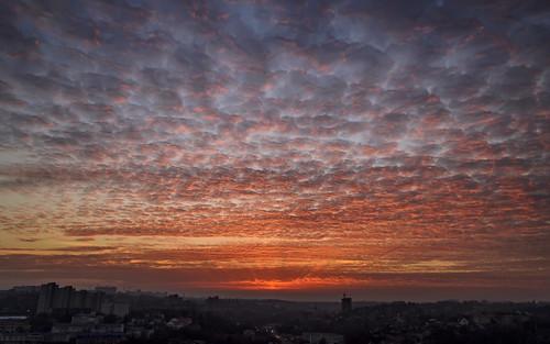 city sunset red clouds nikon europe cloudy ukraine eastern kiev киев україна київ украина d5100