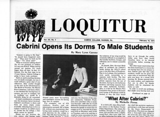 Loquitur: Cabrini opens dorms to male students