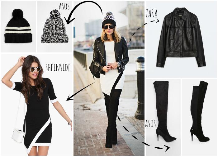 combinar vestido en invierno