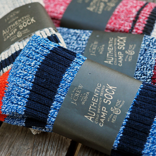 J.Crew Stripe Camp Socks