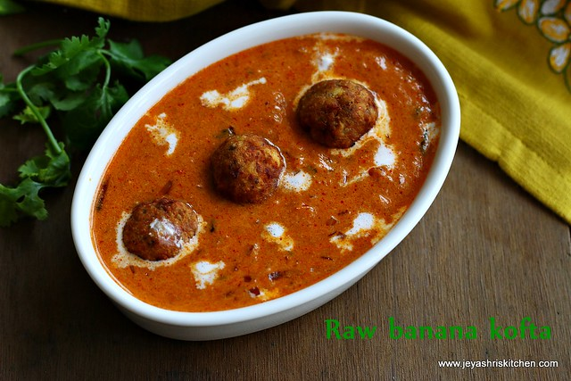 raw - banana-kofta curry