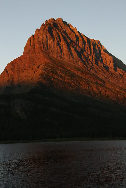 Grinnell Mountain over Swiftcurrent Lake, Many Glacier NP.  Montana, USA.