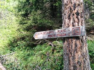 Markierung Strudelkopf Weg Nr. 34