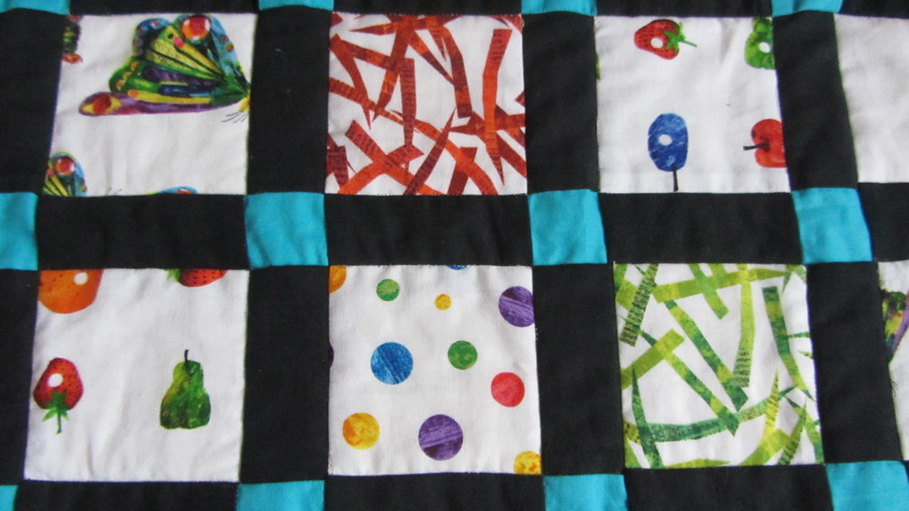 Hungry Caterpillar quilt - squares