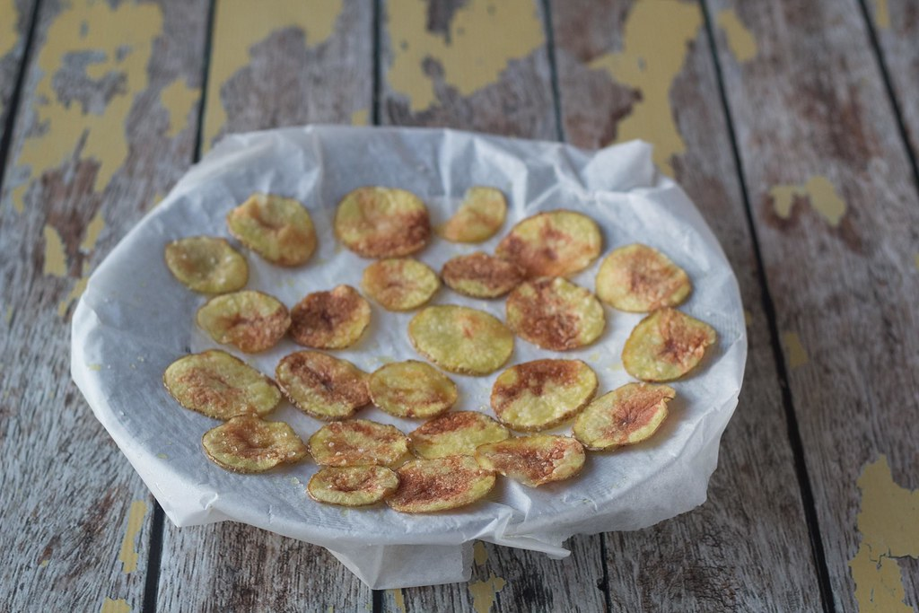 Recipe for Homemade and Easy Microwave Potato Chips