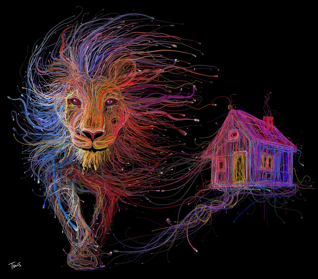 The Lion and the house (For the LYON EXPO 2015 - FOIRE DE LYON 2015)