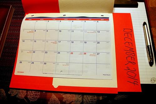 December 2014 Diary