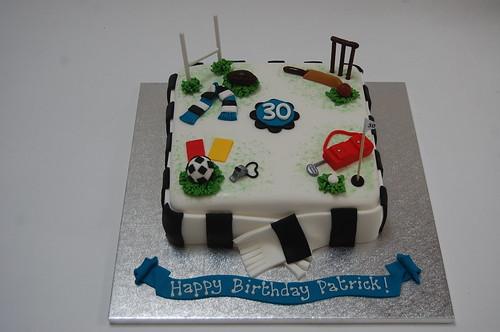 Magnificent Patricks Sporty Hobbies Cake Beautiful Birthday Cakes Personalised Birthday Cards Cominlily Jamesorg