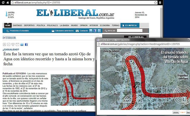 Recorte: El Liberal 1311201