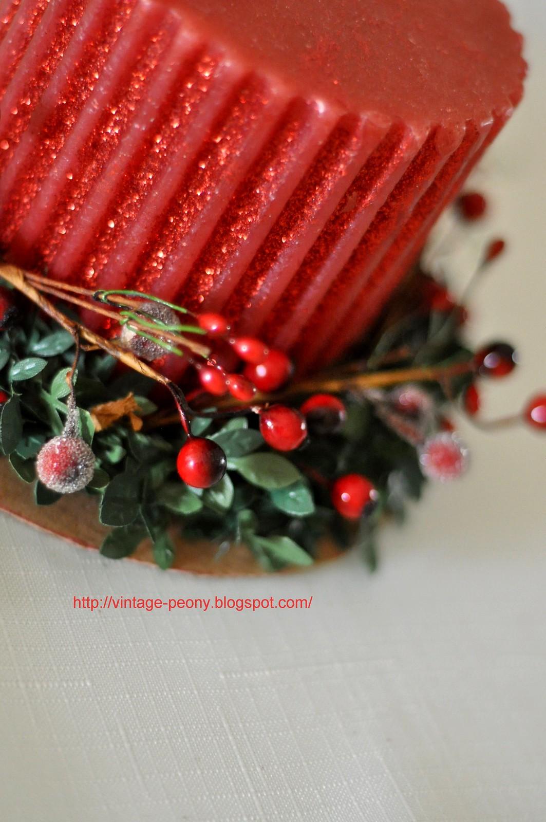vintage peony  diy christmas candle (4)