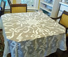 Vintage Lace Tablecloth with Bow Motif