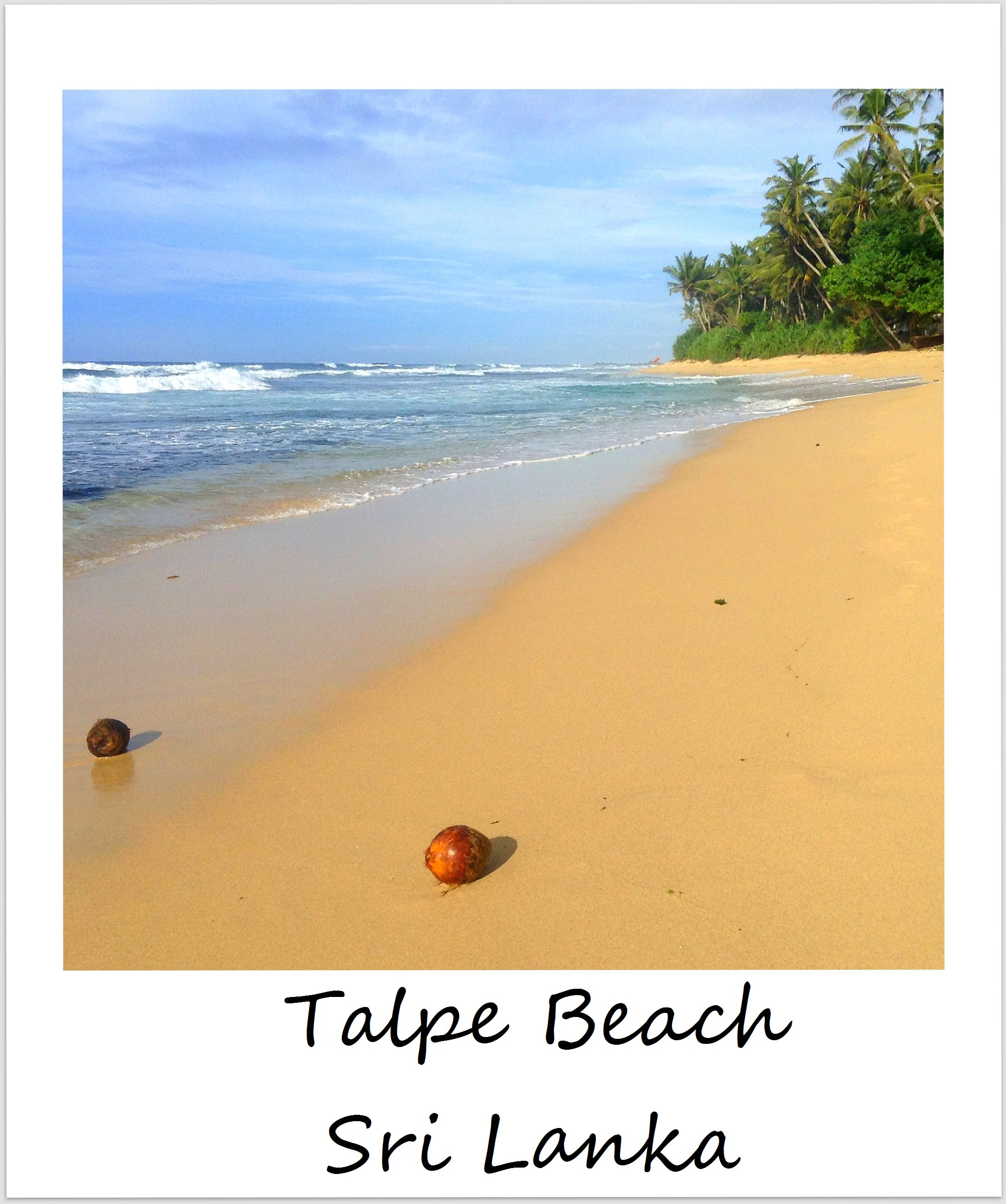 polaroid of the week sri lanka talpe beach unawatuna