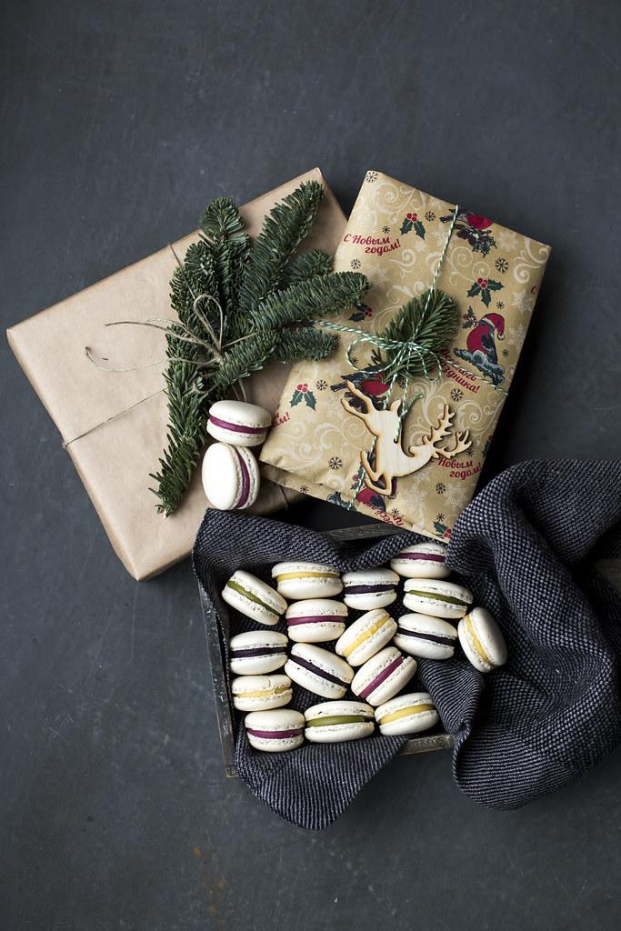 Christmas gift. Macarons