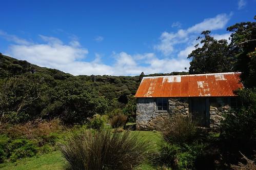 Acker's stone house on Stewart Island