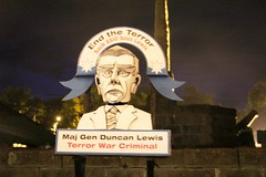 Effigy of Major-General Duncan Lewis, accused of being a terror war criminal - Eureka160-IMG_9246