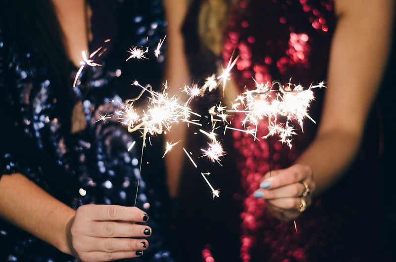 Sequin Dresses and Star Shapes Sparklers on juliettelaura.blogspot.com