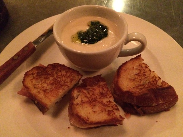 Grilled cheese and soup du jour - Luc