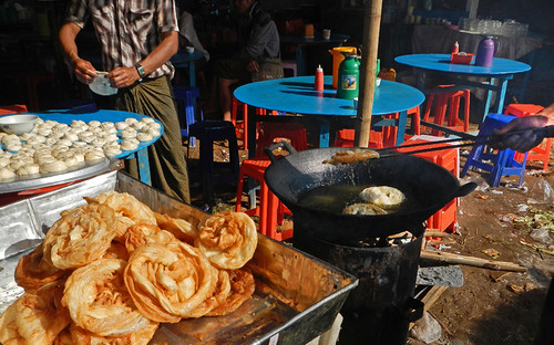 Pastries for Sale at the Weekly Market in the Village at the End of Inle Lake (Myanmar)