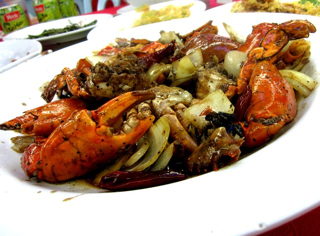 Hong Fu black pepper crabs