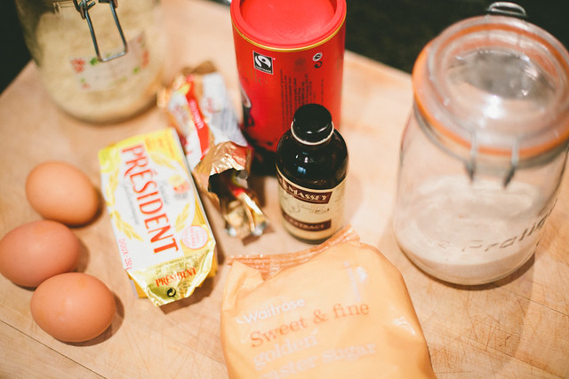Ingredients for Gluten-free Swedish Chocolate Cake by Sorella Muse Photography