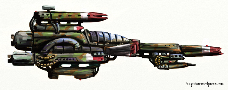 spaceship interceptor artrage