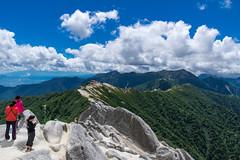 燕岳から連なる稜線