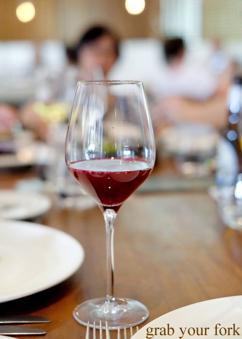 Beetroot, grape and native pepper juice pairing at Biota Dining, Bowral