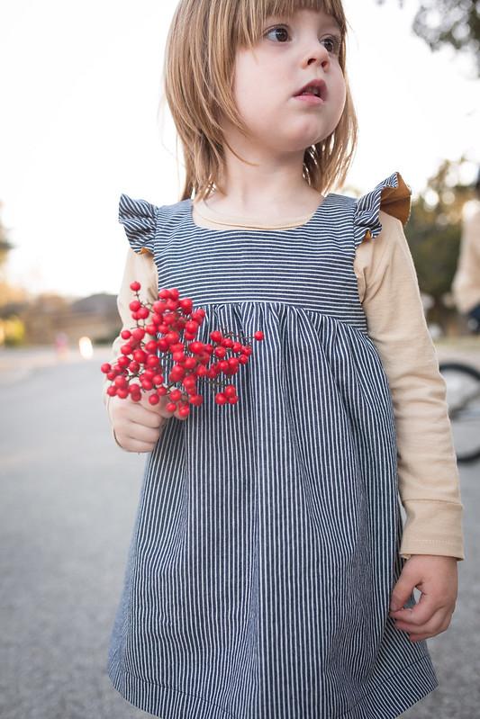 bohemian babydoll dress/ottobre tshirt