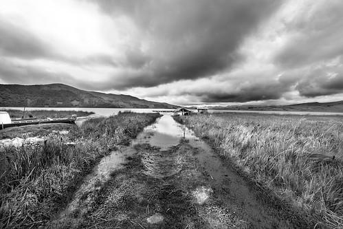 road blackandwhite bw lake cold blancoynegro lago volcano colombia camino path pasto laguna bolsa frio volcan nariño cumbal lagunadelabolsa elcumbal