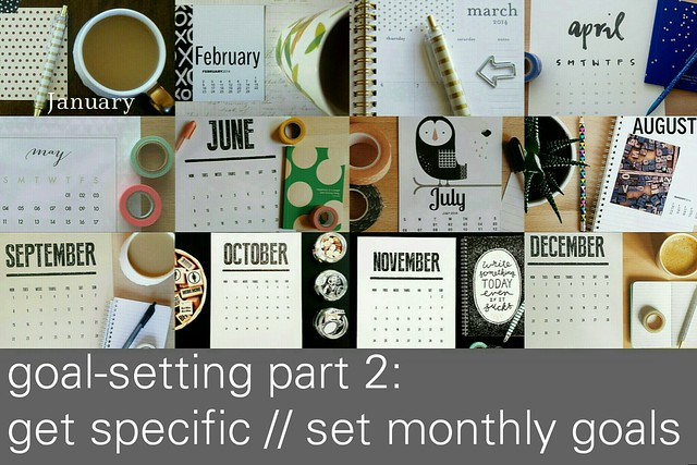 goal-setting part 2: get specific // set monthly goals