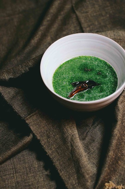 Green Goddess Rasam | A Brown Table