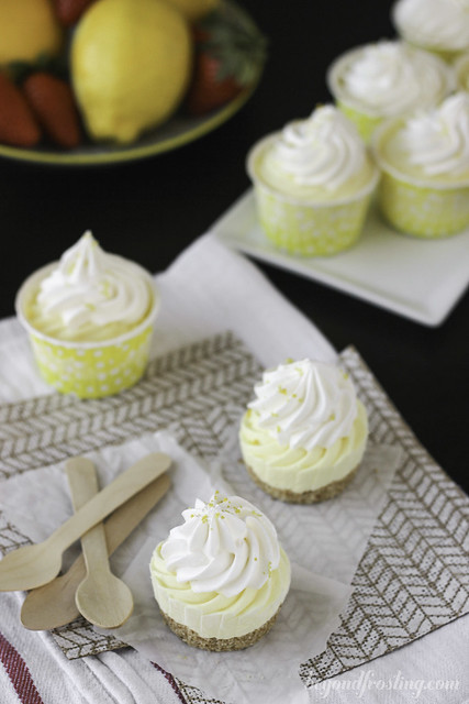 Skinny Lemon Mousse Pies