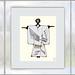 """Digital Kimono Picture """"Orientation Orientierung"""" for Okulario (Starting Point: Stage Callers` & Prompters` Office Ausgangspunkt Dienstzimmer Inspizienten Souffleusen) 3 Variationen Spiegelung Mirroring"""